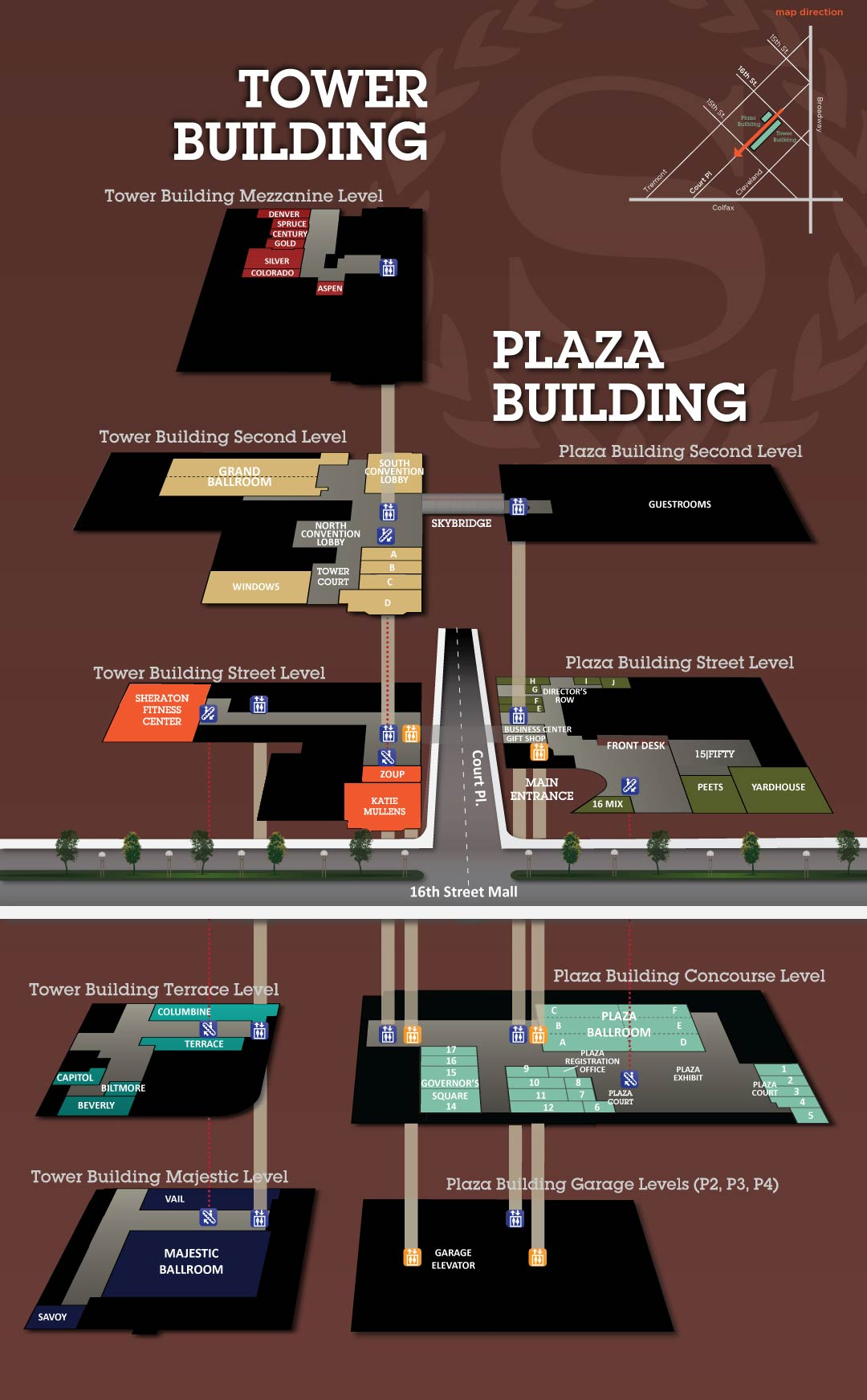Sheraton Denver Floorplan Map | APBS on